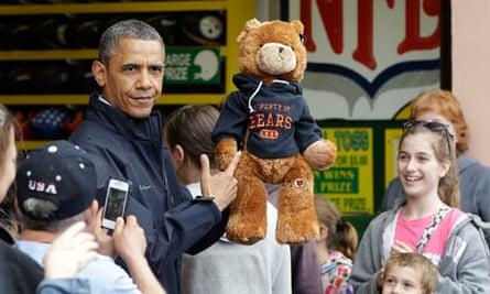 Barack Obama with teddy bear