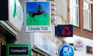 U.K. Bank Branch Signage