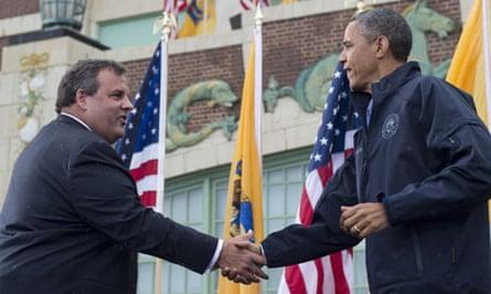 Obama and Chris Christie