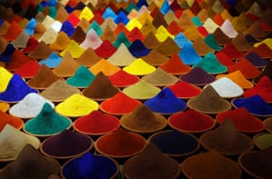 """Part of an installation called """"Campo de Color"""" by Bolivian artist Sonia Falcone is pictured during the 55th La Biennale of Venice, Italy. The exhibition runs till September 15."""