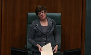 The Speaker Anna Burke executes one of her famous eye rolls during a rowdy start to Question Time. The Global Mail. Mike Bowers.