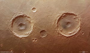 A month in Space: Explosive twins craters on Mars
