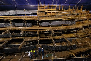 New Mary Rose museum: The interior of the Mary Rose museum