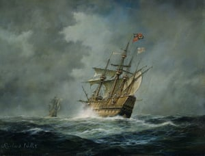 New Mary Rose museum: A painting of the Mary Rose