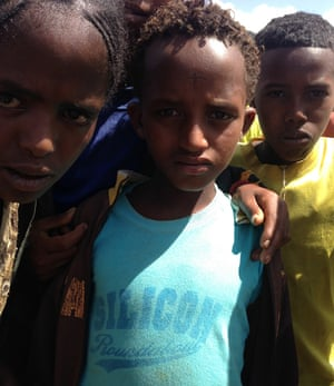 Villager in rurual Ethiopia wearing Silicon Roundabout t-shirt