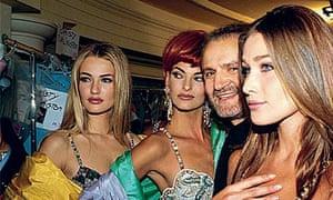 Carla Bruni models Versace