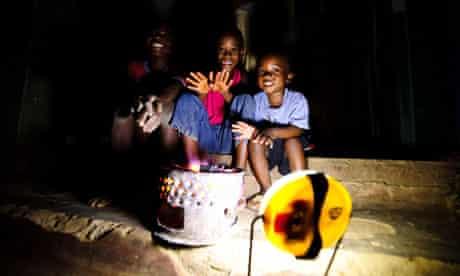children with their lantern