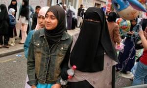 Muslim girls in London