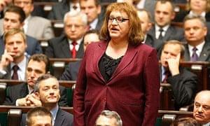 Anna Grodzka sworn in to Polish Parliament.