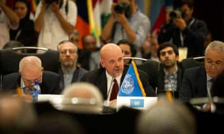 Tehran, Iran. UN envoy Gary Lewis