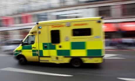 Ambulance travelling at high speed