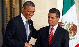 Barak Obama and Enrique Pena Nieto