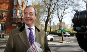 An overjoyed UKIP leader Nigel Farage