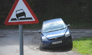Potholes roadsign