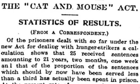 Cat and mouse stats 1913