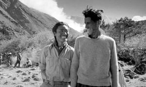Sherpa Tenzing Norgay and Sir Edmund Hillary after their ascent of Mount Everest in 1953.