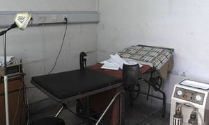 An abortion room in a small country hospital in Sichuan, China.