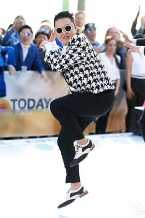 """New style in town. Psy performs on NBC's """"Today Show"""" at TODAY Plaza in New York City."""