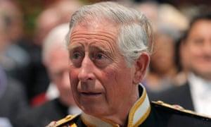Hanging on: Prince Charles