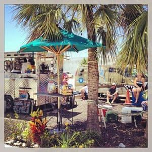 Garbo's Grill, a fish taco food cart in Key West.