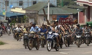 Buddhists maraud through Lashio, where Muslim-owned businesses were attacked.