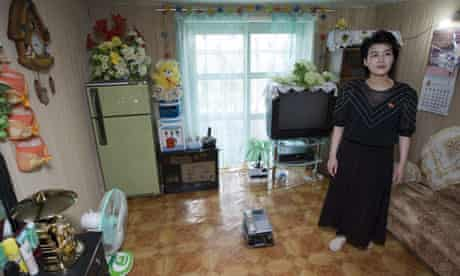 Inside a home in Kujang town, North Korea, which has been helped by a number of aid projects