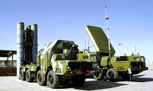 The S-300 anti-aircraft missile system on display in an undisclosed location in Russia.