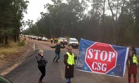 Coal seam gas protesters