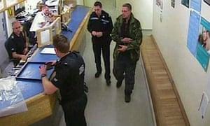 Mark Bridger in police custody