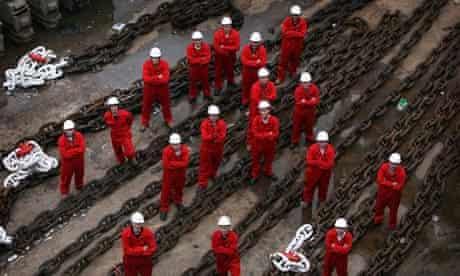 Men in shipyard