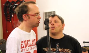 Backing vocalists including Micheal Hambrey, left, create the harmonies