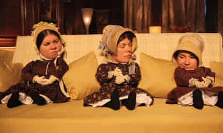 Squabbling on the sofa ... the Brontë sisters in Psychobitches. Photograph: Scott Kershaw/Sky Arts