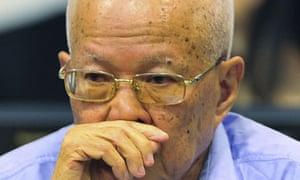 Khieu Samphan at the genocide tribunal in 2011.