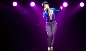Alicia Keys performs at the O2 Arena, London, last night.