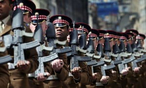 1st Battalion Scots Guards parade down the Royal Mile, Edinburgh, after their return from Afghanistan.