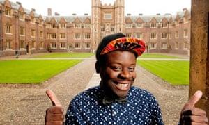 Former rapper Niyi at St John's college, Cambridge