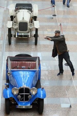 historical veteran cars in Liberec, Czech Republic.