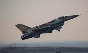 An Israeli jet takes off