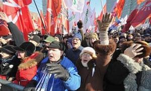 Anti-Putin protesters