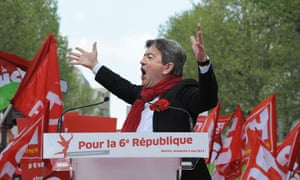 Jean-Luc Melenchon, leader of the Left Front