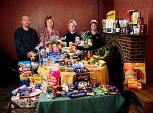Hungry Planet: Bainton Family - UK