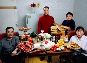 Hungry Planet: Batsuuri Family - Mongolia