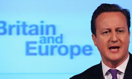 British Prime Minister David Cameron Makes Speech On The UK's Position In Europe
