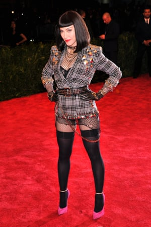 Madonna rocked up at the homage to punk gala in fitting style.