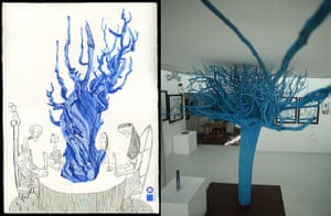 Dave McKean: Blue tree