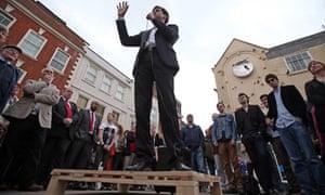 Labour Leader Ed Miliband Visits Worcester