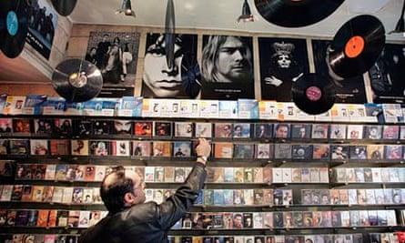 A record shop in Tehran