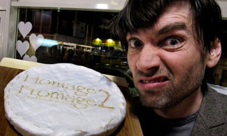 Alex James sniffs a particularly pongy cheese at Homage2Fromage