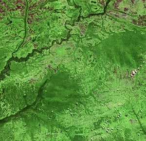Satellite Eye on Earth: north-west of the Democratic Republic of Congo