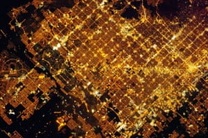 Satellite Eye on Earth: Nocturnal image of the Phoenix, Arizona area